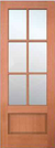 JELD-WEN 5106 Authentic Wood Glass Panel Exterior Door