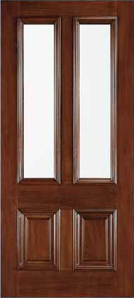JELD-WEN 110 Custom Wood Glass Panel Exterior Door