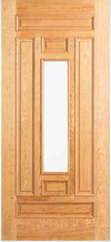 JELD-WEN 302 Custom Wood Glass Panel Exterior Door