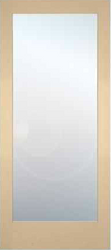 JELD-WEN 1501 Authentic Wood Glass Panel Interior Door