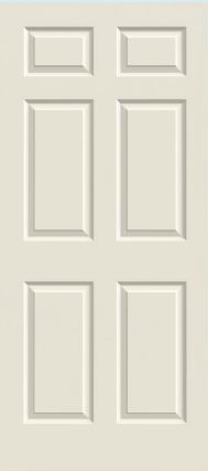 JELD-WEN Bristol Molded Wood Composite All Panel