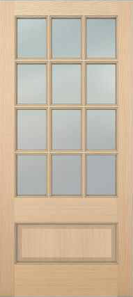 JELD-WEN 5112 Authentic Wood Glass Panel Exterior Door