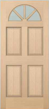 JELD-WEN 5404 Authentic Wood Glass Panel Exterior Door