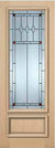 JELD-WEN 7101M Authentic Wood Glass Panel Exterior Door