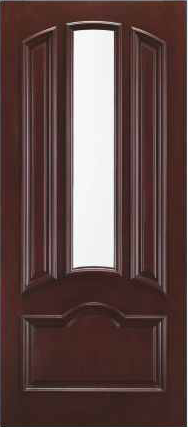 JELD-WEN A465 Aurora Custom Fiberglass Glass Panel Exterior Door