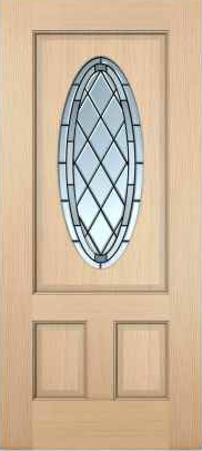 JELD-WEN 7208 Authentic Wood Glass Panel Exterior Door