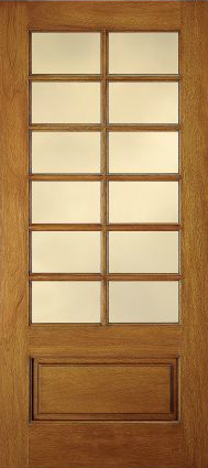 JELD-WEN E0442 Custom Wood Glass Panel Interior Door