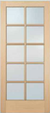 JELD-WEN 5010 Authentic Wood Glass Panel Exterior Door