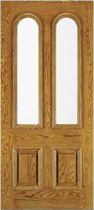 JELD-WEN A112 Aurora Custom Fiberglass Glass Panel Exterior Door