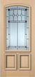 JELD-WEN 7201AM Authentic Wood Glass Panel Exterior Door