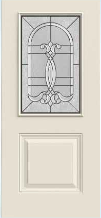 JELD-WEN 684 1-Panel Steel Glass Panel Exterior Door