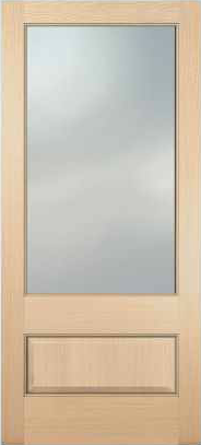 JELD-WEN 5101 Authentic Wood Glass Panel Exterior Door
