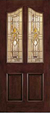 JELD-WEN A890 Aurora Custom Fiberglass Glass Panel Exterior Door