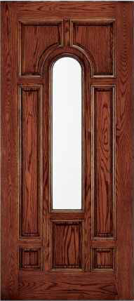 JELD-WEN 225 Custom Wood Glass Panel Exterior Door