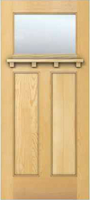JELD-WEN 6201Shelf Authentic Wood Glass Panel Exterior Door