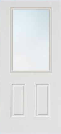 JELD-WEN 684 FiberLast Engineered Composite Glass Panel Exterior Door