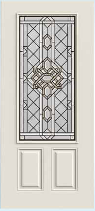 JELD-WEN 607A Steel Glass Panel Exterior Door
