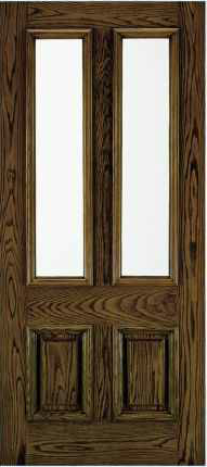 JELD-WEN A110 Aurora Custom Fiberglass Glass Panel Exterior Door