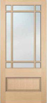 JELD-WEN 5109 Authentic Wood Glass Panel Exterior Door