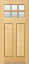 JELD-WEN 6206 Authentic Wood Glass Panel Exterior Door