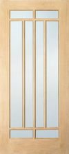 JELD-WEN E0508 Custom Wood Glass Panel Interior Door