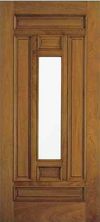 JELD-WEN A302 Aurora Custom Fiberglass Glass Panel Exterior Door