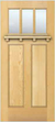 JELD-WEN 6203Shelf Authentic Wood Glass Panel Exterior Door