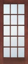 JELD-WEN E0515 Custom Wood Glass Panel Interior Door