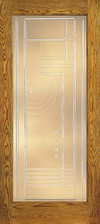 JELD-WEN E0500 Custom Wood Glass Panel Interior Door