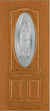 JELD-WEN 949 Design-Pro & Smooth-Pro Fiberglass Glass Panel Exterior Door