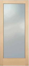 JELD-WEN 5001 Authentic Wood Glass Panel Exterior Door