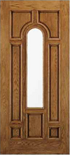 JELD-WEN A225 Aurora Custom Fiberglass Glass Panel Exterior Door