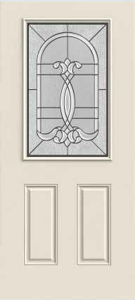 JELD-WEN 684 2-Panel Steel Glass Panel Exterior Door