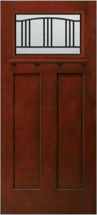 JELD-WEN 814 Architectural Fiberglass Glass Panel Exterior Door