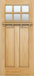 JELD-WEN 6206Shelf Authentic Wood Glass Panel Exterior Door