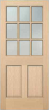 JELD-WEN 5209 Authentic Wood Glass Panel Exterior Door