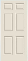JELD-WEN Bostonian Molded Wood Composite All Panel Interior Door