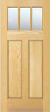 JELD-WEN 6203 Authentic Wood Glass Panel Exterior Door
