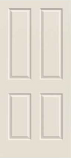 JELD-WEN Atherton Molded Wood Composite All Panel Interior Door