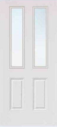 JELD-WEN 692 FiberLast Engineered Composite Glass Panel Exterior Door
