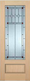 JELD-WEN 7101 Authentic Wood Glass Panel Exterior Door