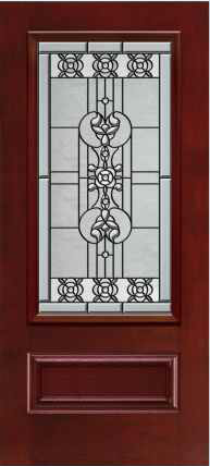 JELD-WEN 828 Architectural Fiberglass Glass Panel Exterior Door