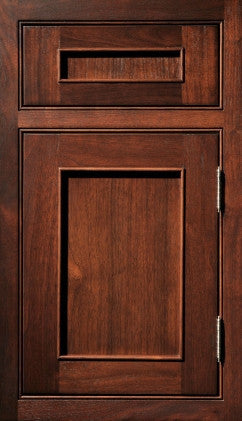 Plain and Fancy Cabinets Square Recessed panel- Austere 2-1/4 Walnut in Cocoa