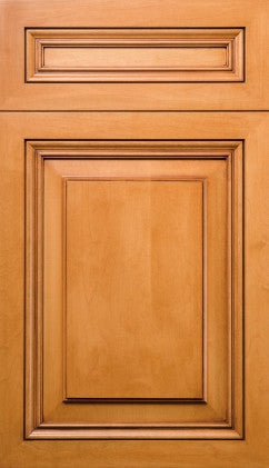Plain and Fancy Cabinets Square Raised panel- Presidential Maple in Bisque Frosted Chocolate