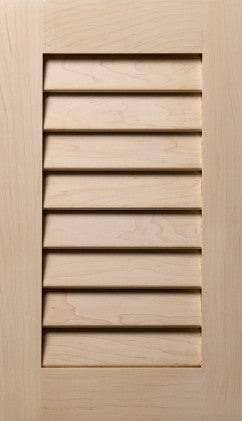 Plain and Fancy Cabinets Square Beaded panel- Closed Louver Maple in Caramel