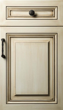 Plain and Fancy Cabinets Square Raised panel- Presidential Maple in White Wash