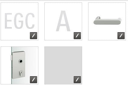 FSB European glass door lock compact EGC - A - 1002 - FL - 0105 - 231 - RH - 008