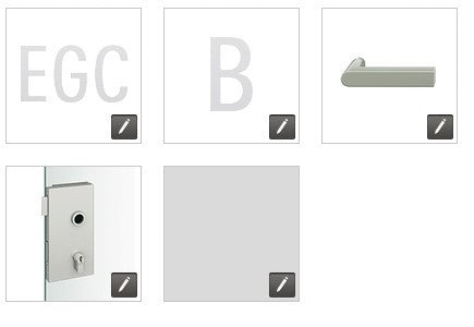 FSB European glass door lock compact EGC - B - 1001 - FL - 0105 - 231 - RH - 008