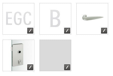 FSB European glass door lock compact EGC - B - 1111 - FL - 0105 - 231 - RR - 008