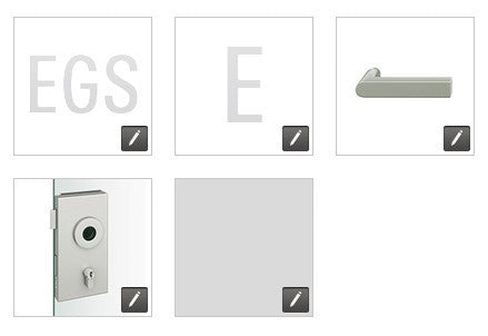 FSB  European Glass Door Lock, Square Edge EGS - E - 1001 - RA - 0105 - 231 - LR - 008